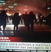 Novo protesto, neste momento, na Rua da Consolaçao em SP