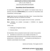 Edital de Convocação de Assembléia Geral Extraordinária – Assoc. Alphaville Burle Marx