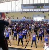 Aulão Fitness 2013, em Barueri, teve mais de mil participantes
