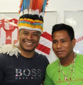 Índios visitam Barueri e o secretário de Esportes Paulo Sérgio