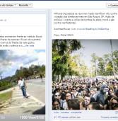 Midia Ninja, pelo Facebook, denuncia abusos contra protesto nas proximidades do Instituto Royal em São Roque