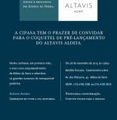 Convite para a festa de lançamento do Altavis Aldeia, novo empreendimento da Cipasa Urbanismo