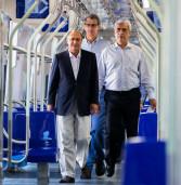 o Governador visita 1º dos 26 trens novos que a Linha 5 Lilás vai receber até 2014.