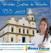 Homenagem da deputada federal Bruna Furlan no aniversário de Santana de Parnaíba