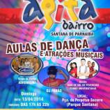 Divertimento domingo em Santana de Parnaíba, amanhã, dia 13
