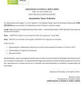 Associação Alphaville Burle Marx – Edital de Convocação – Assembléia Geral Ordinária