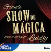 A Secretaria de Cultura e Turismo apresente grande Show de Mágica com o mágico Luidiy. Não fique de fora!