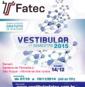 Vestibulinho FATEC – Barueri, Santana de Parnaíba e São Roque