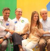 Bruna Furlan na campanha de Aécio/ Aloysio, ela que foi a mulher, deputada federal, mais votada do Estado de SP