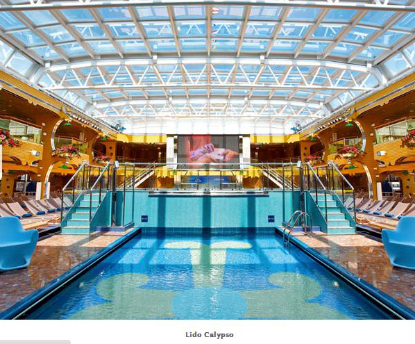 piscina teto lido Calypso