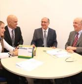 Deputada Bruna Furlan, com governador Alckmin e deputados do PSDB, em Brasília, visitam senador José Serra