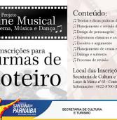 Curso gratuito de Roteiro de Cinema Musical, em Santana de Parnaíba, leia mais!!