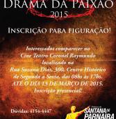 Abertas inscrições para figurantes no Drama da Paixão de Santana de Parnaíba