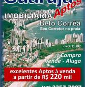 Publicidade – Beto Corrêa corretor no Guarujá – repaginamento de imóveis para venda