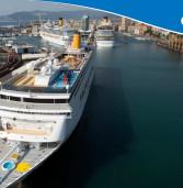 Costa Cruzeiros, no dia 8, teve três dos seus navios partindo do Porto de Savona, Itália