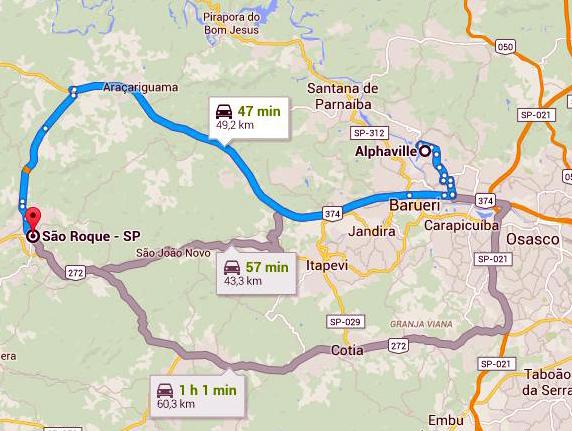 mapa Alphaville-S.Roque