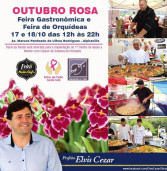 Evento de rua: Feira Gastronômica e Feira de Orquídeas em Alphaville, dias 17 e 18 em prol do Outubro Rosa