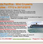 Publicidade: Pacote 'Navios' Mini Cruzeiro do Costa Pacifica, 3 noites, de 17 a 20/12/2015