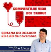 Semana do Doador de Sangue: 23 a 28 de novembro. Veja os postos aqui.