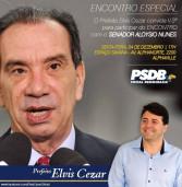 Amanhã, no Espaço Savana o Encontro com o Senador Aloysio Nunes, à convite do prefeito Elvis Cezar