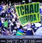 Com 367 votos 'Sim', foi aceito o prosseguimento do Processo de Impeachment da presidente Dilma Rousseff