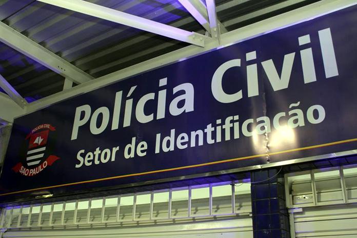 PF.placa Policia Civil Setor identificação