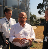 Governador Geraldo Alckmin entrega reservatório para 1 milhão de litros d'água na SABESP do Tamboré