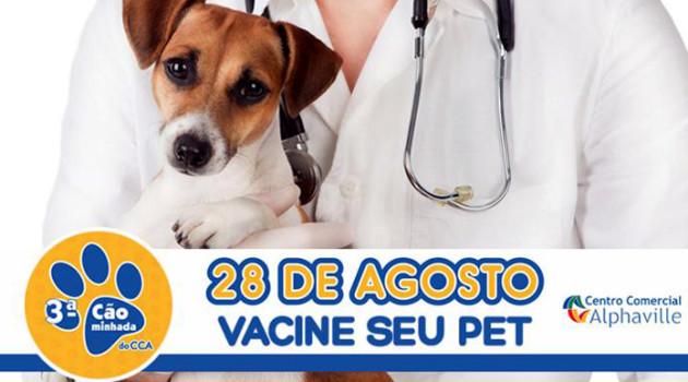 CCA – Centro Comercial Alphaville terá posto de vacinação antirrábica em 28 e 29 de agosto