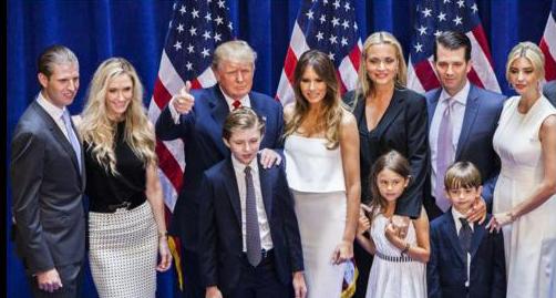 Trump e família - Repr_fb. Donald_TrumpJr