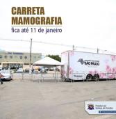 Santana de Parnaíba – Carreta da Mamografia – EXAMES GRATUITOS DE MAMOGRAFIA – ATÉ DIA 11/01