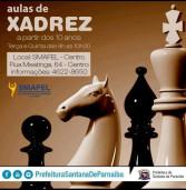 A Prefeitura de Santana de Parnaíba  abre inscrições para as aulas de xadrez