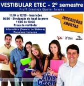 Até 12 de maio: inscrições para o processo seletivo do segundo semestre da ETEC Ermelinda Giannini Teixeira, Centro – Santana de Parnaíba