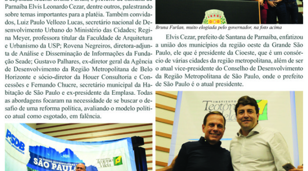 Folha de Barueri Express, edição de 26.06.2017: Barueri sedia Seminário do PSDB com grandes nomes tucanos