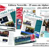 Hoje, comemoramos 25 anos em Alphaville! Editora Newsville!