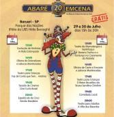 """Barueri (29 e 30/07) e Santana de Parnaíba (5 e 6/08) terão o projeto EMCENA BRASIL com """"ABARÉ 20 ANOS EMCENA"""". Gratuito."""
