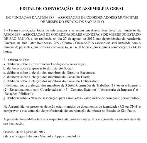 Edital de Convocação da ACMMESP copy