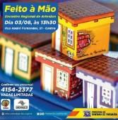 Encontro Regional de Artesãos em Santana de Parnaíba dia 03/08