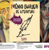 Inscrições do Prêmio Barueri de Literatura 2017 até 29 de setembro
