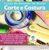 Inscrição para curso de Corte e Costura de Santana de Parnaíba