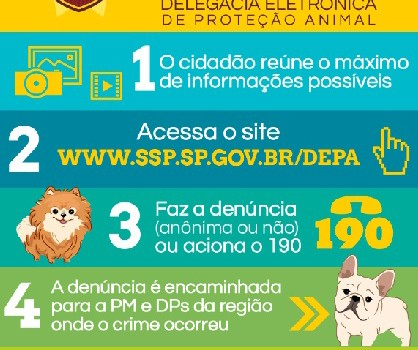 Denuncie maltratos a animais na DEPA