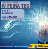 IV Feira TEC – Feira Técnico Cientifica da ETEC / Santana de Parnaíba. Saiba mais!