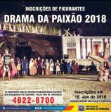 DRAMA DA PAIXÃO 2018 – Inscrições abertas para figurantes e aprendizes de ator