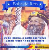 É hoje. Folia de Reis em Santana de Parnaíba e último dia da decoração natalina