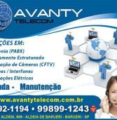 Publicidade: Câmeras, alarmes, interfones, PABX, venda e manutenção