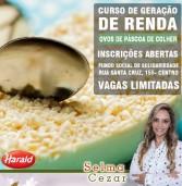 Santana de Parnaíba curso gratuito de Ovos de Páscoa de Colher