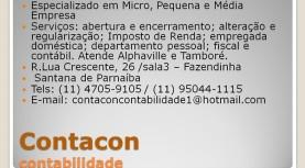 Publicidade: Contacon – atende Alphaville e Tamboré