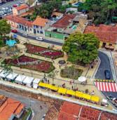 Ontem, foi a reinauguração a Praça do Coreto, em Santana de Parnaíba