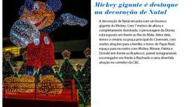 Natal Shopping Tamboré tem Mickey gigante