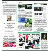 Alpha Post de dezembro: página do Editorial e das notícias 'Curtas'