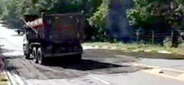 obra pós chuva. estrada Bela Vista liberada
